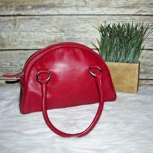 Cynthia Rowley Small Red Leather Handbag Purse Bag